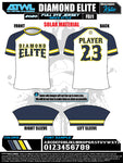 Diamond Elite Full Dye Jersey White Alternate