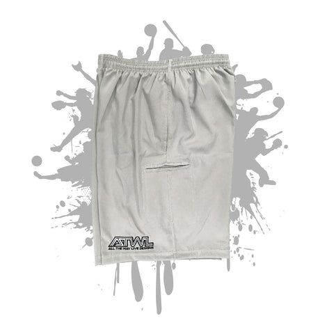 Light Grey Microfiber Stretch Short