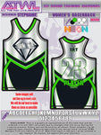 1st Round Diamonds Women's Racerback