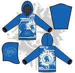 Retro Splash Unisex Hoody Royal/White
