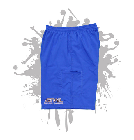 Royal Blue Microfiber Stretch Short