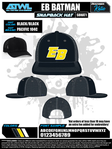 EastBay Spring League 2020 Baseball Hat