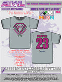 1st Round Diamonds Grey Sub Dye Men's Jersey