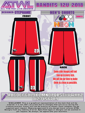 Bandits 12U Men's/Boys Shorts