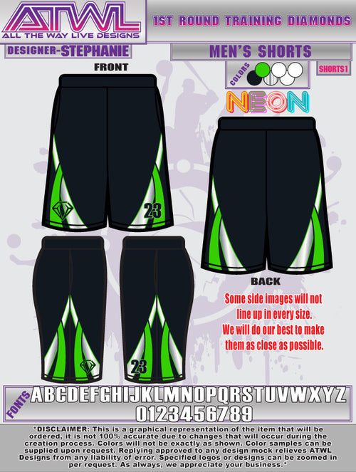 1st Round Diamond Shorts