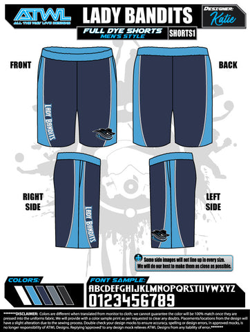 Lady Bandits 10U Shorts
