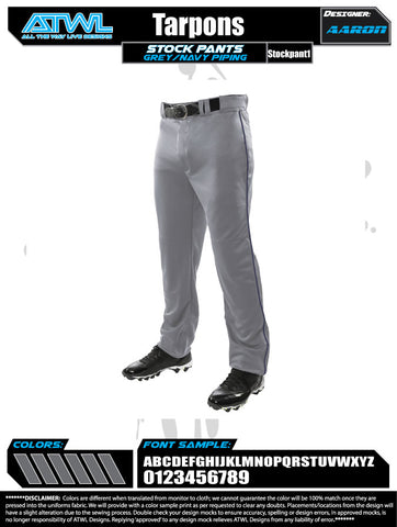 Tarpons Youth Stock Pants