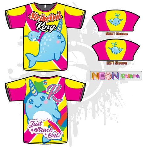 Strikeout Narwhal Mens Full Dye Jersey