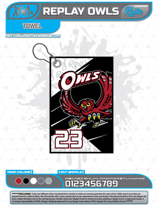 REPLAY OWLS TOWEL
