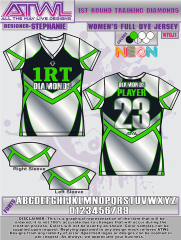 1st Round Diamonds Women's Jersey
