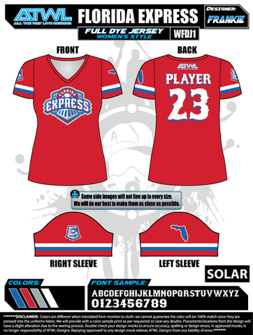 Florida Express Women's Full Dye Jersey
