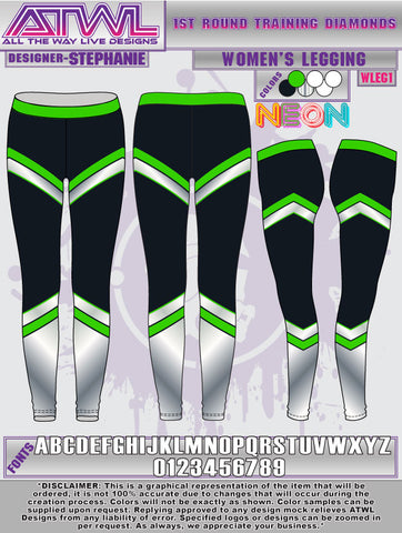 1st Round Diamonds Legging