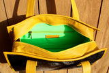 Yellow Tote, B/W, green