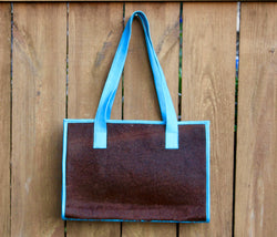 Turquoise Tote, B, blue