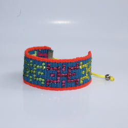 Wayuu bracelet adorned with Swarovski crystals