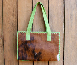 Green Tote, tricolor, green