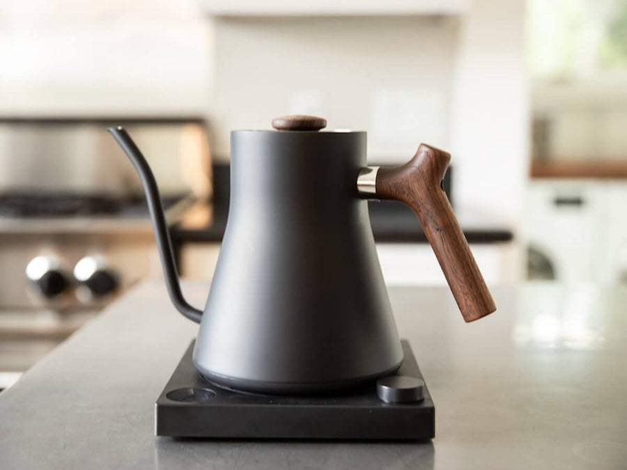 Fellow | Stagg EKG Electric Pour Over Kettle - Matte Black w. Walnut