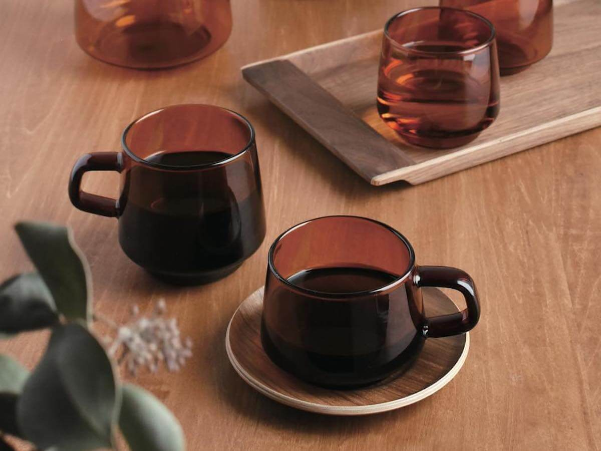 Kinto | Sepia Cup w. Saucer