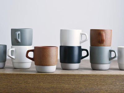 Kinto | Slow Coffee Style Stacking Mug - White - CAFUNE - Serveware - Canada
