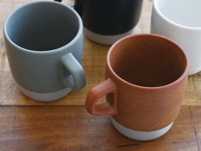 Kinto | Slow Coffee Style Stacking Mug - Grey - CAFUNE - Serveware - Canada