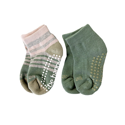 Toddler Boy 2 Pack Grip Socks 2T-4T (HUNTER)