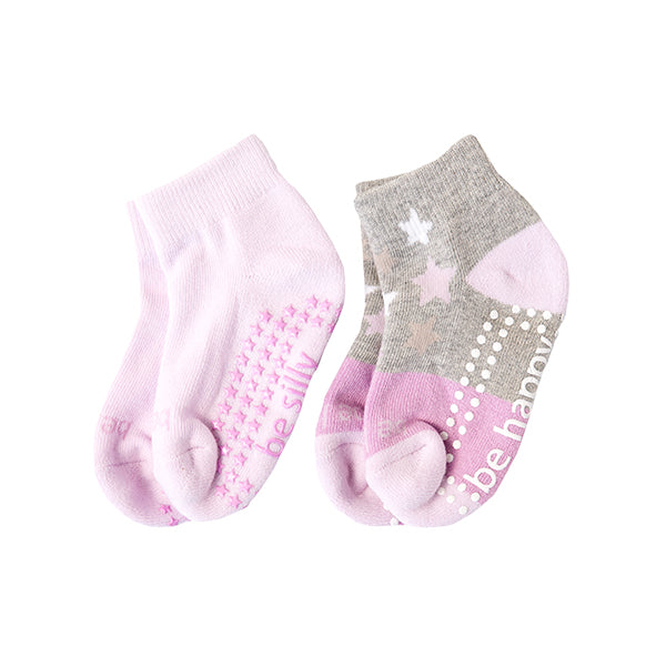 Toddler Girl 2 Pack Grip Socks 2T-4T (HOLLY)