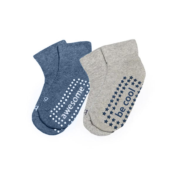 NEW Boy 2 Pack Grip Socks 4T-6T (JIMMY)