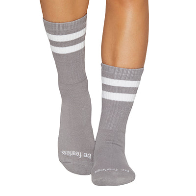 CREW Be Fearless Grip Socks (Dark Grey/White)