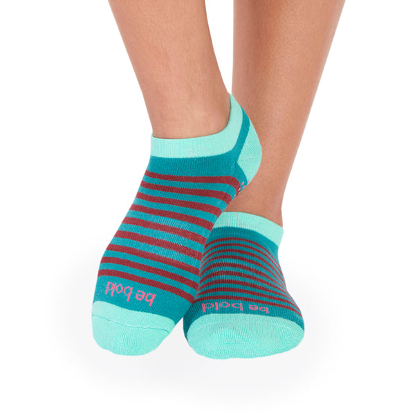 SALE Be Bold Andie Stripe Grip Socks (Mojito)
