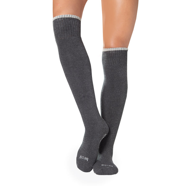 KNEE HIGH Be Chill Grip Socks (Charcoal)