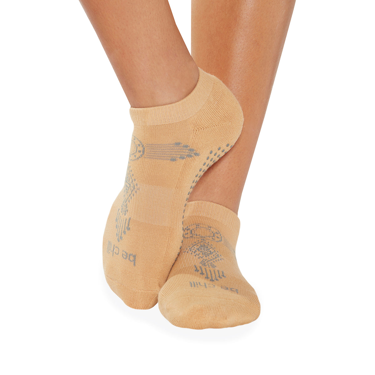 Be Chill Henna Grip Socks (Nude/Grey)