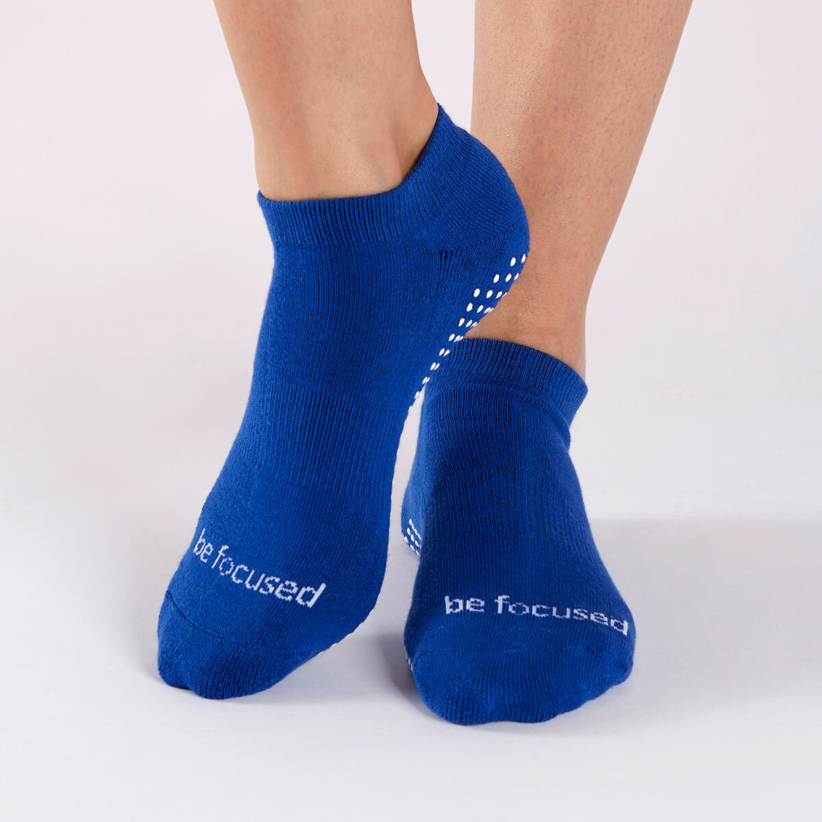Be Focused Grip Socks (Royal/White)
