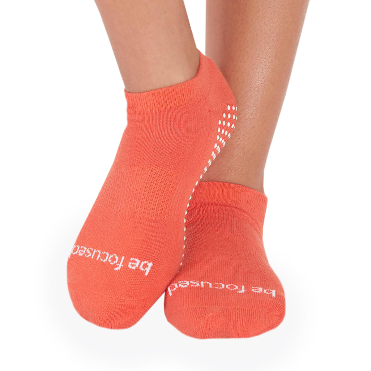 SALE Be Focused Grip Socks (Sienna/White)