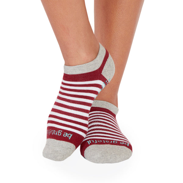 SALE Be Grateful Andie Stripe Grip Socks (Greyhound)