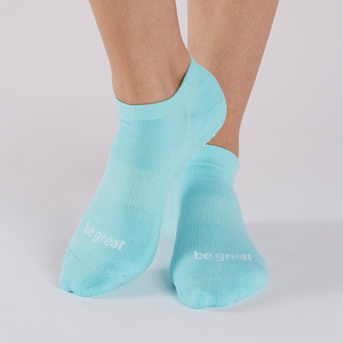 Be Great Grip Socks (Aqua/White)