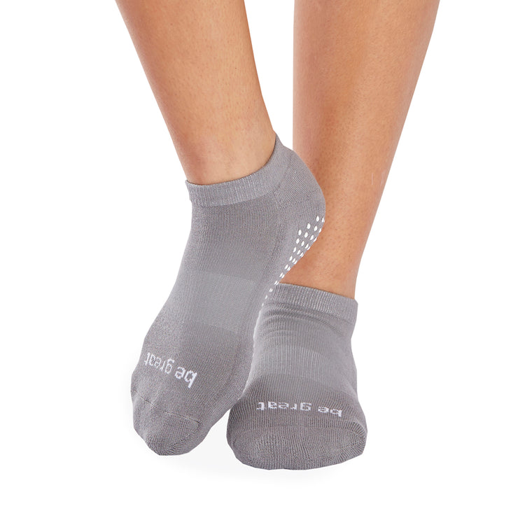 Be Great Grip Socks (Dark Grey/White)