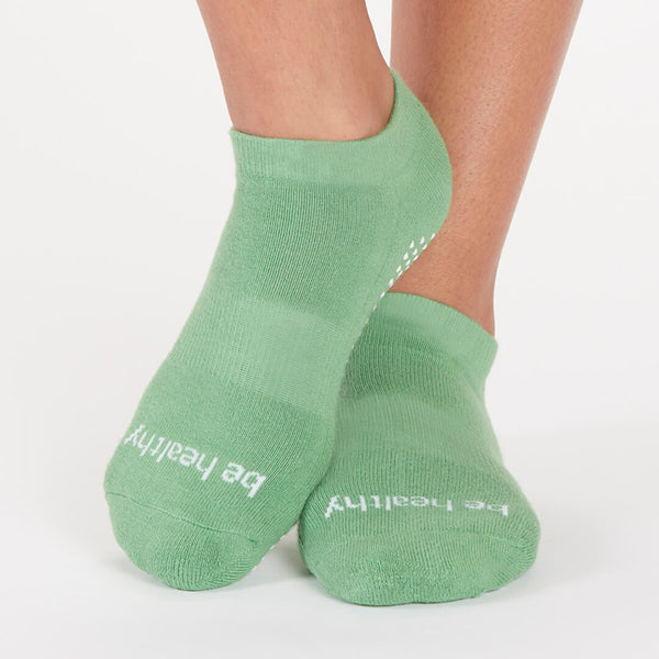 Be Healthy Grip Socks (Celery/White)