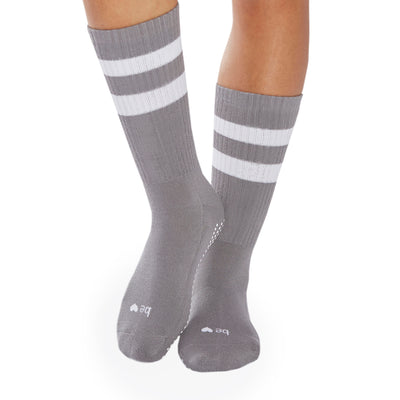 CREW Be Love Grip Socks (Dark Grey/White)