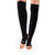 Be Love Stirrup Grip Leg Warmers (Black/White)