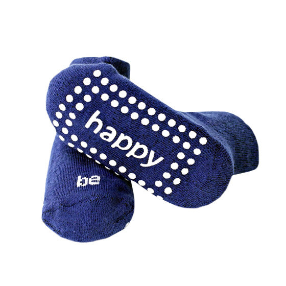 Be Happy Baby Socks (Royal)