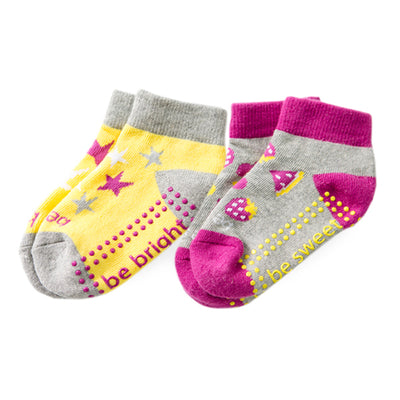 Toddler Girl 2 Pack Grip Socks 2T-4T (ZOEY)