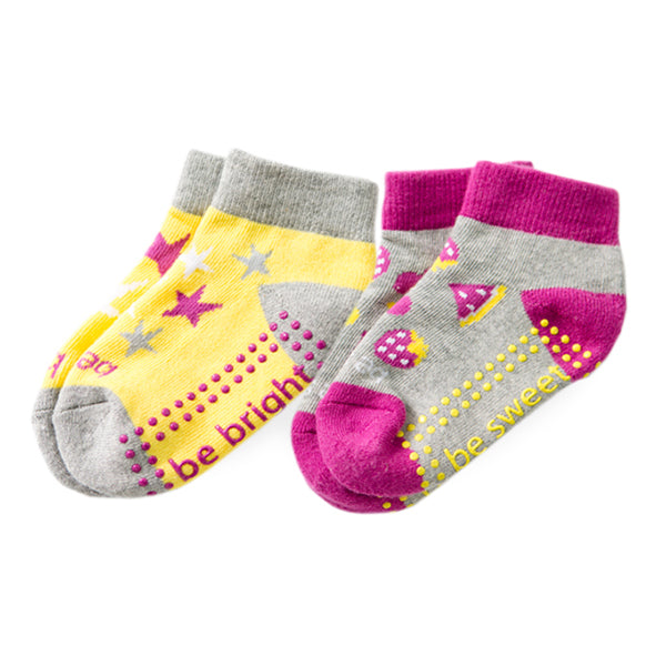 NEW Toddler Girl 2 Pack Grip Socks 2T-4T (ZOEY)