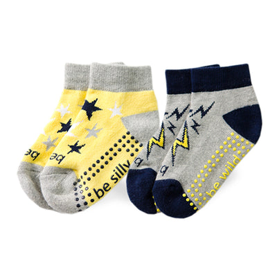 Toddler Boy 2 Pack Grip Socks 2T-4T (ZACK)