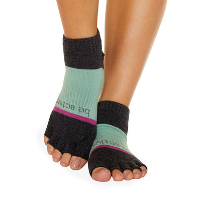 HALF TOE Be Active Grace Grip Socks (Jasmine)