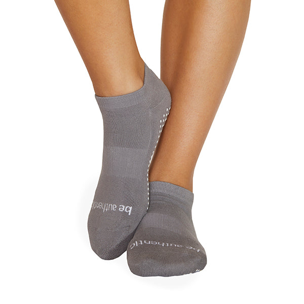 Be Authentic Grip Socks (Dark Grey/White)
