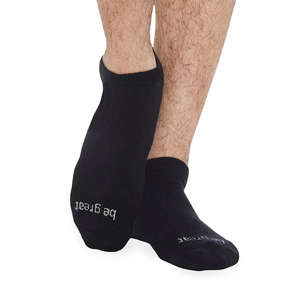 MENS Be Great *NO GRIP* Socks (Black/Light Grey)