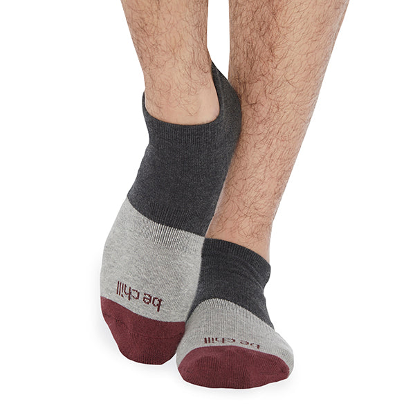 NEW MENS Be Chill Dax NO GRIP Socks (Iron)