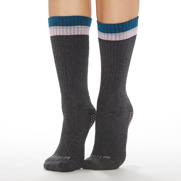 NEW CREW Be Bold Grip Socks (Charcoal/Lilac)