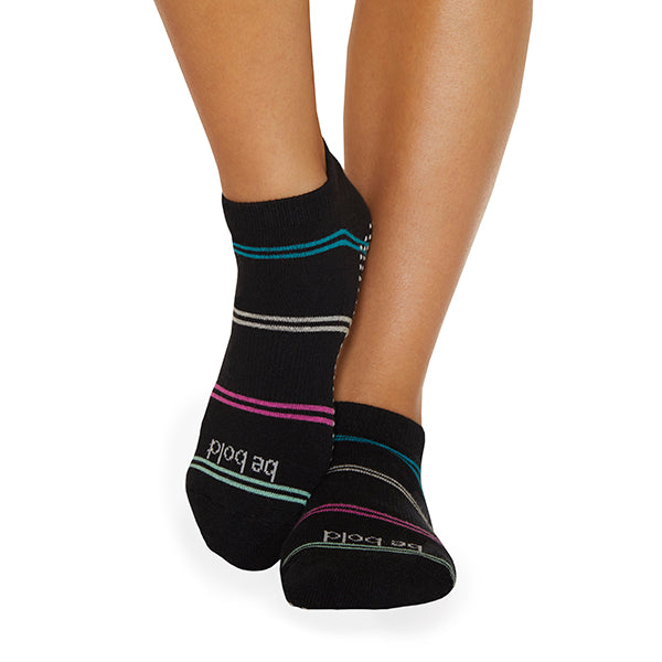 NEW Be Bold Harper Grip Socks (Raven)