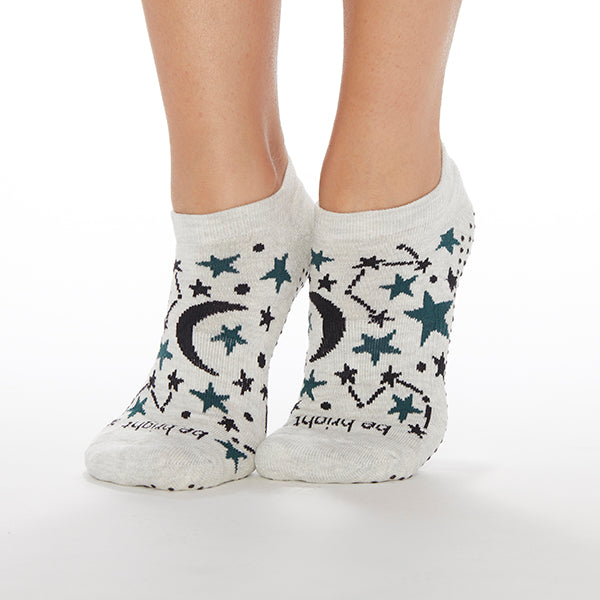 Be Bright Celeste Grip Socks (Ivory)